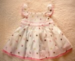 Gymboree Infant Baby Girl White Ice Cream Dress 3-6MTH