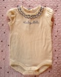 "Gymboree Infant Baby Girl White ""baby doll"" Onesie 3-6MTH"
