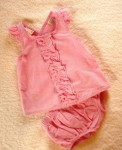 Hooray Infant Baby Girl Pink Summer Set 3-6MTH