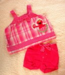 Sesame Street Infant Baby Girl Summer Elmo Set 3-6MTH