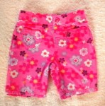 Jumping Beans Infant Baby Girl Bright Pink Floral Capri Pants 6-9MTH