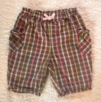 Jumping Beans Infant Baby Girl Brown Plaid Capri 6-9MTH