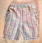 Jumping Beans Infant Baby Girl Aqua Blue Plaid Capri 6-9MTH