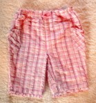 Jumping Beans Infant Baby Girl Pink Plaid Capri w/Bow 6-9MTH