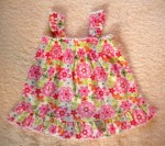Jumping Beans Infant Baby Girl Floral Sleeveless Top 6-9MTH