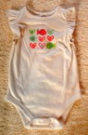 Jumping Beans Infant Baby Girl White Onesie w/Fish 6-9MTH