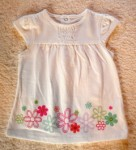 Jumping Beans Infant Baby Girl White Top w/Flowers 6-9MTH