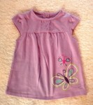 Jumping Beans Infant Baby Girl Purple Top w/Butterflies 6-9MTH