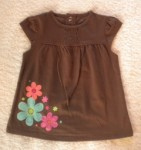 Jumping Beans Infant Baby Girl Brown Top w/Flowers 6-9MTH