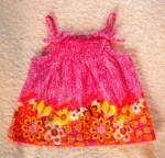 The Children's Place Infant Baby Girl Pink/Orange Sleeveless Print Top 6-9MTH
