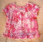 The Children's Place Infant Baby Girl White w/Pink Top 6-9MTH