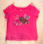 The Children's Place Infant Baby Girl Hot Pink Top 6-9MTH