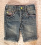 Greendog Infant Baby Girl Capri Jeans 6-9MTH