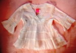 The Children's Place Infant Baby Girl White 3/4 Sleeve Top 6-9MTH