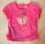 Little Miss Attitude Infant Baby Girl Pink Shirt w/Butterfly 9MTH
