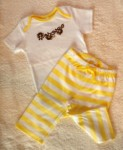 Gymboree Infant Baby Girl 2PC White/Yellow Set w/Monkeys 6-12MTH
