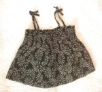 Baby Gap Infant Baby Girl Black Print Summer Top 6-12MTH