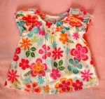 Sonoma Baby Toddler Girl Top w/Colorful Flowers 12MTH