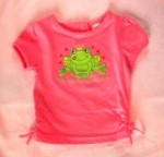Little Miss Attitude Baby Toddler Orange Shirt w/Frog 12MTH