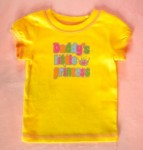 "Carter's Baby Toddler Girl Yellow ""Daddy's little princess"" 12MTH"