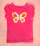 Carter's Baby Toddler Girl Hot Pink Shirt w/Butterfly 12MTH