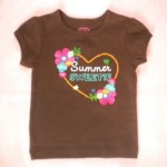 "Carter's Baby Toddler Girl Brown ""Summer Sweetie"" Shirt 12MTH"
