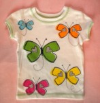 Carter's Baby Toddler Girl Colorful Butterfly Shirt 12MTH