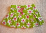Carter's Baby Toddler Girl Green Skirt w/Flowers 12MTH