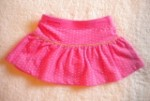 Little Miss Attitude Baby Toddler Girl Pink Skirt w/Dots 12MTH
