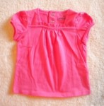 Jumping Beans Baby Toddler Girl Hot Pink Top w/Snaps 12MTH