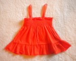 Miniwear Baby Toddler Girl Orange Strappy Top 12MTH
