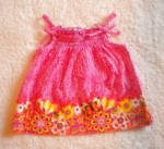 The Children's Place Baby Toddler Girl Pink/Orange Sleeveless Print Top 12MTH