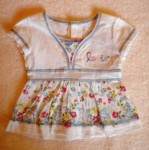 Levi's Baby Toddler Girl White V-Neck Top w/Flowers & Bow 12MTH