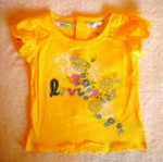 Levi's Baby Toddler Girl Yellow Top w/Flowers 12MTH