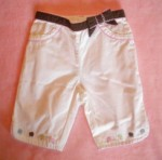Gymboree Baby Toddler Girl White Ice Cream Capri 12-18MTH
