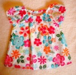 Sonoma Baby Toddler Girl Top w/Colorful Flowers 18MTH