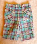 Jumping Beans Baby Toddler Girl Teal Plaid Capri 18MTH