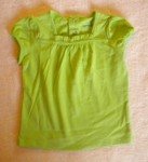 Jumping Beans Baby Toddler Girl Bright Green Shirt w/Ruffle 18MTH