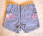 Circo Baby Toddler Purple Shorts w/Pink Flowers 18MTH