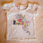 Levi's Baby Toddler Girl White Top w/Flowers 18MTH