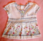 Levi's Baby Toddler Girl White V-Neck Top w/Flowers 18MTH