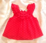 Hooray Baby Toddler Girl Red Textured Top 12MTH