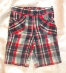 Jumping Beans Baby Toddler Girl Blue Plaid Capri 12MTH