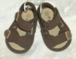The Children's Place Infant Baby Boy Brown Sandals w/Tan Accents 0-3MTH