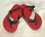Baby Gap Infant Boy Red Flip Flops 3-6MTH