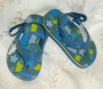 Baby Gap Infant Boy Blue Flip Flops w/Animals 3-6MTH