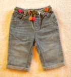 "Gymboree Baby Toddler Girl Jeans w/Flower ""Belt"" 18-24MTH"