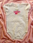 "Jumping Beans Baby Toddler Girl White ""Daddy's Sweetheart"" Onesie 24MTH"