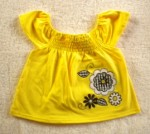 Young Hearts Baby Toddler Girl Yellow Top w/Flowers 24MTH