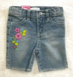 Xhilaration Baby Toddler Girl Capri Jeans w/Flowers 24MTH